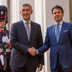 Andrej Babis incontra Giuseppe Conte a Roma