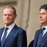 Donald Tusk incontra Giuseppe Conte a Roma
