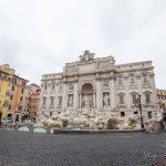Fontana di Trevi - Il lockdown per l'emergenza Coronavirus / Covid-19 in Italia