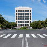 Palazzo della Civiltà Italiana EUR - Il lockdown per l'emergenza Coronavirus / Covid-19 in Italia.